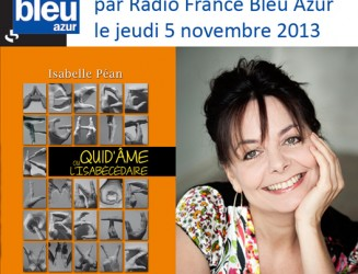 Interview d'Isabelle Péan par Radio France Bleu Azur