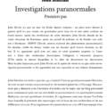 INVESTIGATIONS PARANORMALES