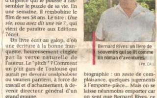 Bernard Rives interviewé par la Provence
