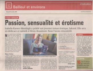 Un article de L'indicateur sur Isabelle Ramez-Mestdagh