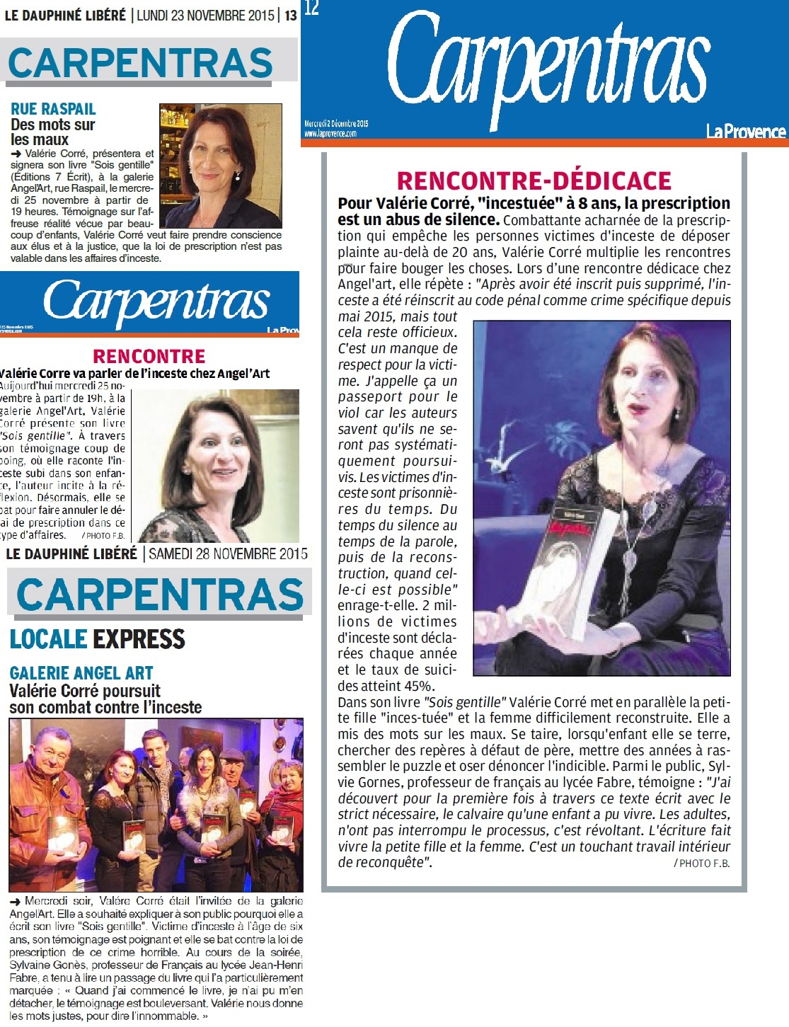 Article du Journal Vaucluse_Matin
