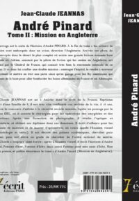 verso andre pinard mission en angleterre tome 2 – jeannas